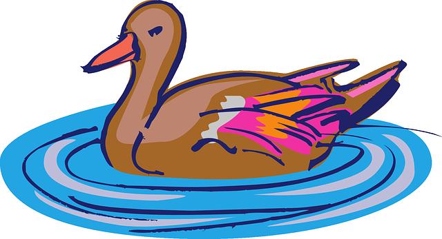 Free vector graphic: Water, Brown, Pink, Bird, Duck.