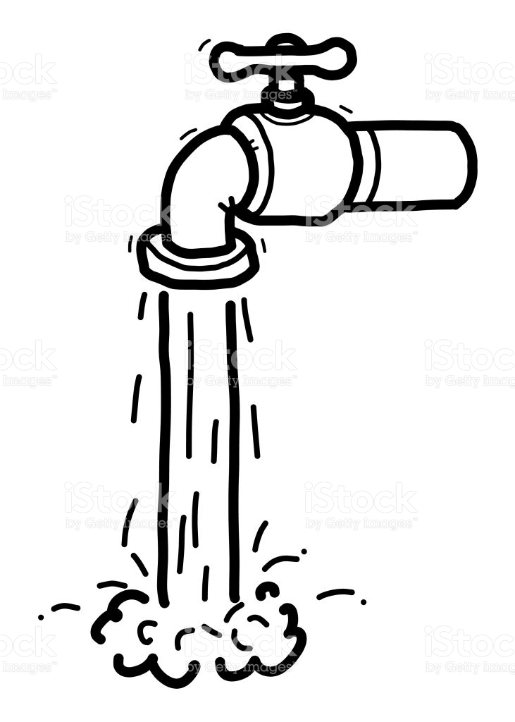 Water black and white clipart 2 » Clipart Station.