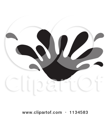 Splash Clipart Black And White.