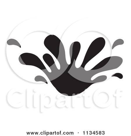 Splash Clipart Black And White.