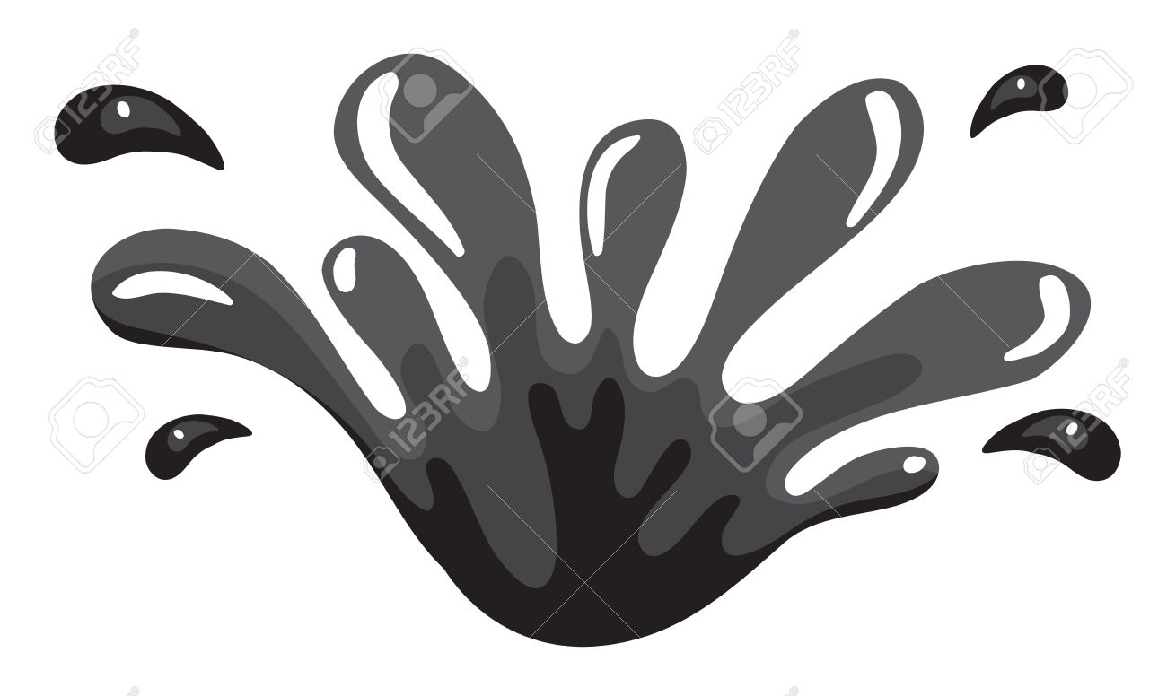 water black and white clipart splash - Clipground