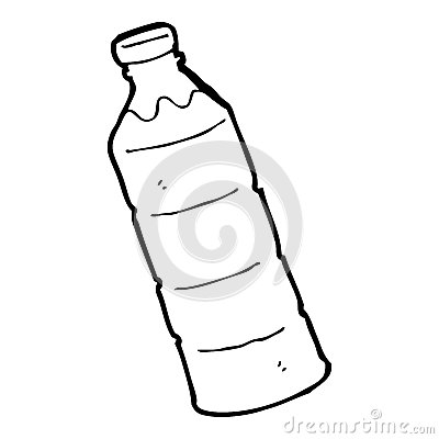 Cartoon Water Bottle Stock Images.