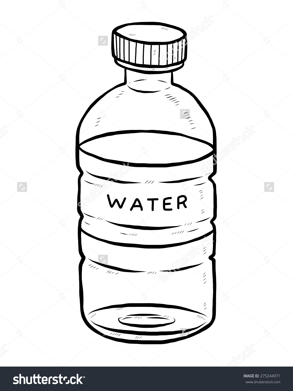 water bottle clipart black white - Clipground