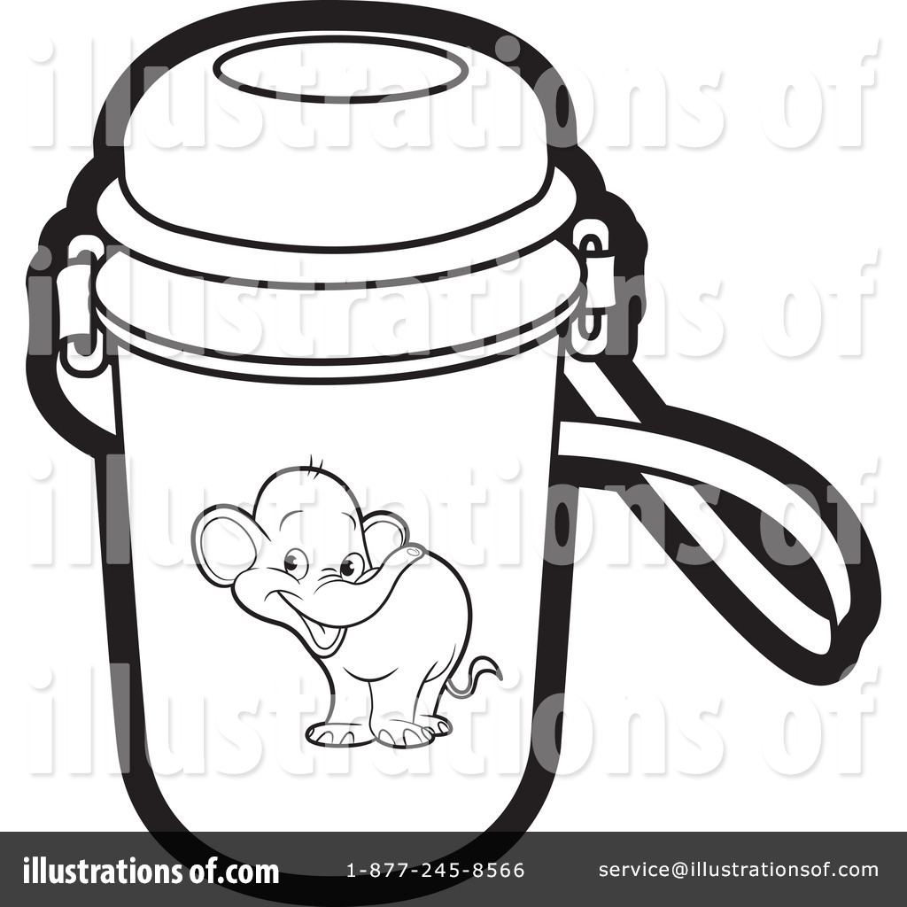 Clipart Water Bottle Black And White.