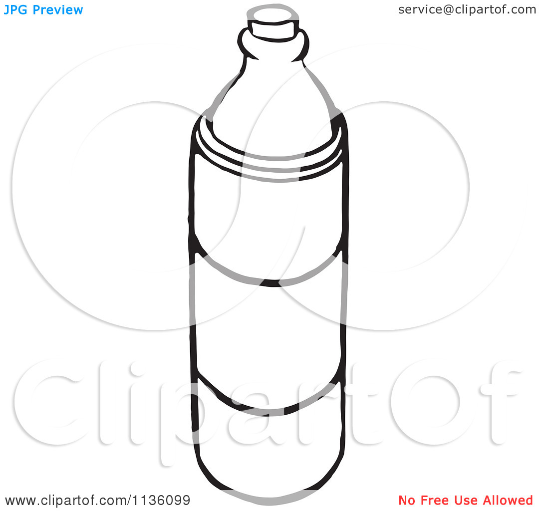 Drinking Water Bottle Clipart Black And White.