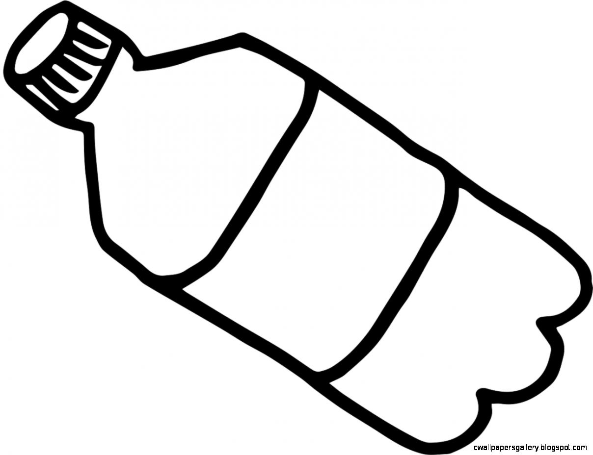Line Art Jug : Water bottle clipart black and white clipground