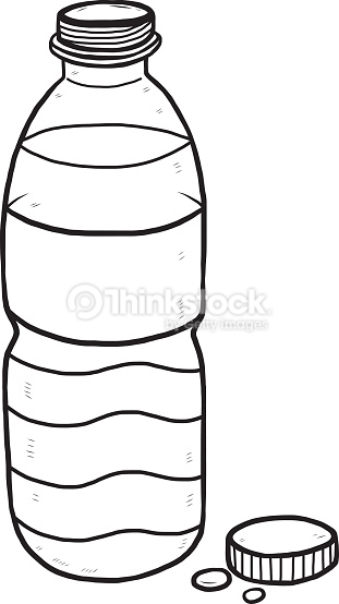 Bottle Of Water Clipart Black And White.