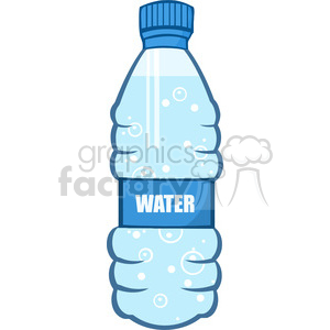6241 Royalty Free Clip Art Cartoon Water Bottle clipart. Royalty.