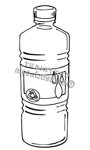 Free Plastic Water Bottle Clip Art Black And White, Download.