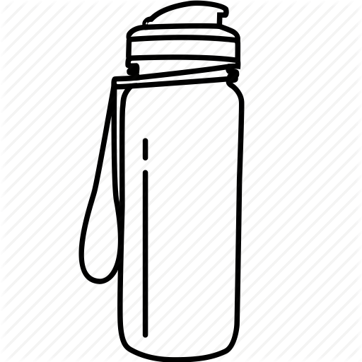 \'Water Bottle Outline\' by Nimblechapps.