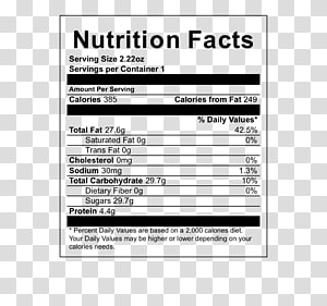 CANDYS, purple plastic showing nutrition facts label.