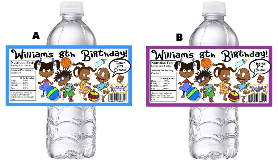 Details about RUGRATS AFRICAN AMERICAN BIRTHDAY PARTY FAVORS WATER BOTTLE  LABELS WRAPPERS.