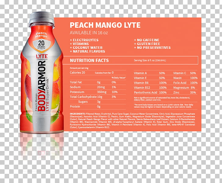 Sports & Energy Drinks Bodyarmor SuperDrink Nutrition facts.