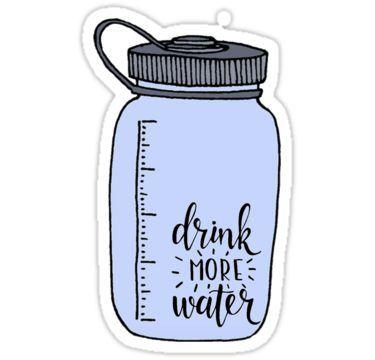 drink more water Sticker in 2019.