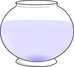 Free fish bowl with water clipart gif.