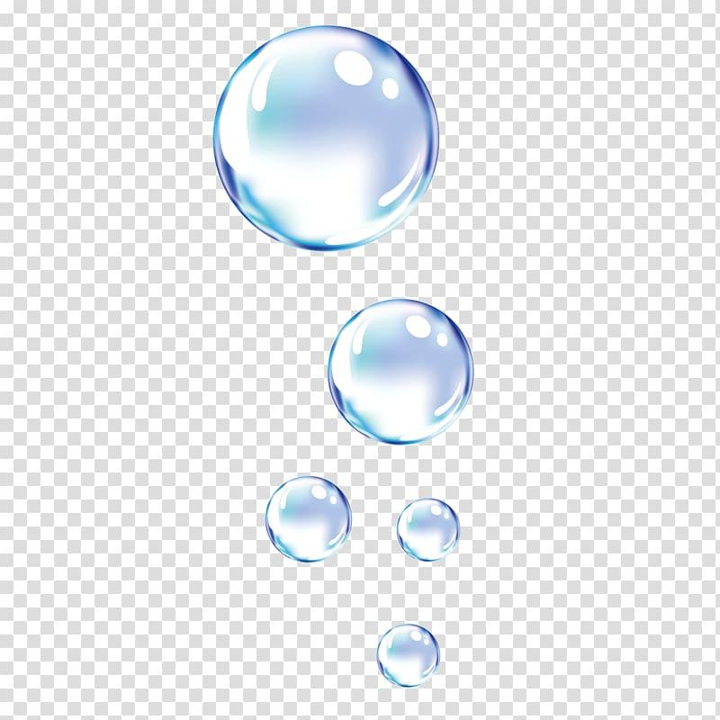 Dynamic bubble bubble water droplets, clear bubbles.