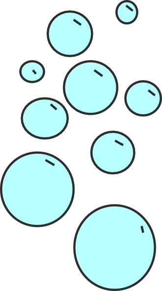 Water Bubbles Clipart.