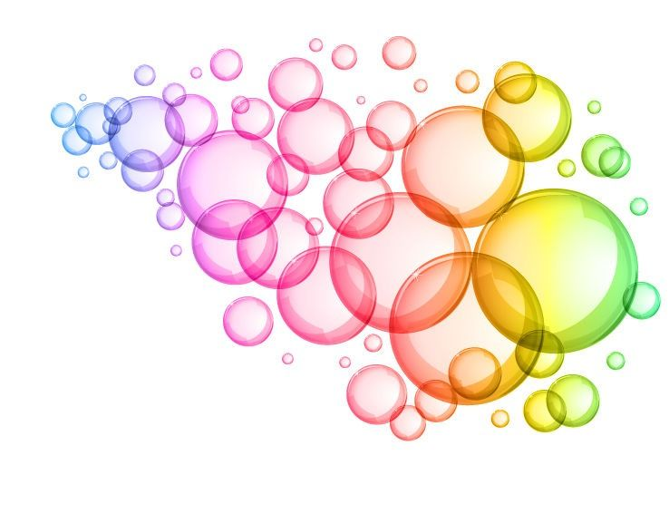 Colorful Water Bubbles Clipart.