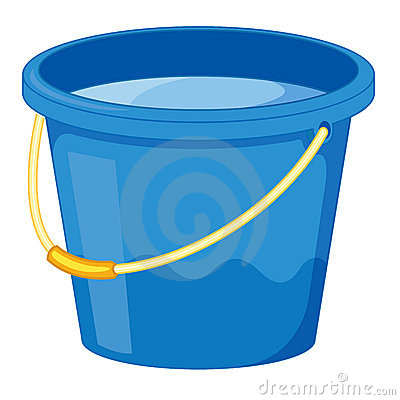 Bucket of water clipart.