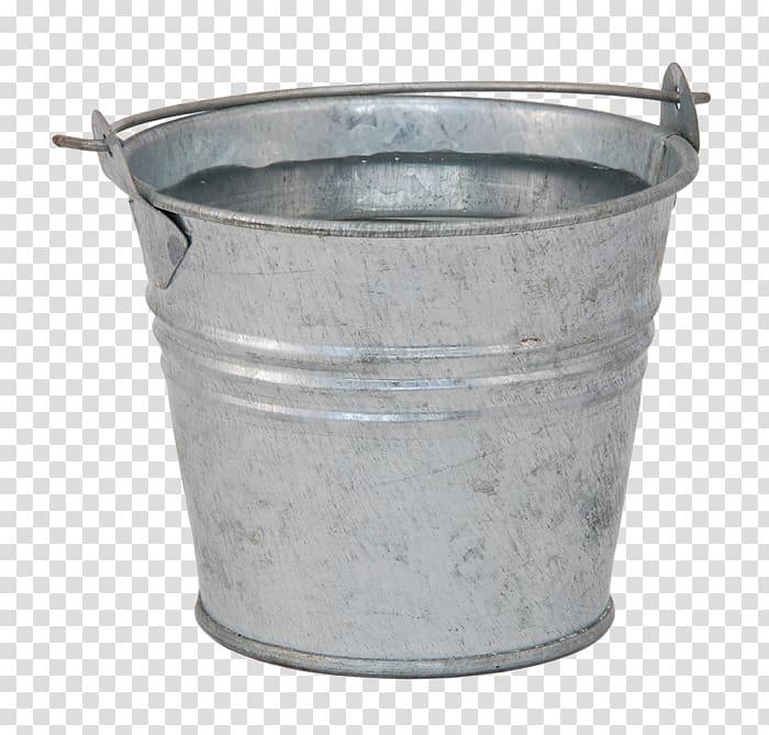 Bucket Pail Water Metal, bucket transparent background PNG.