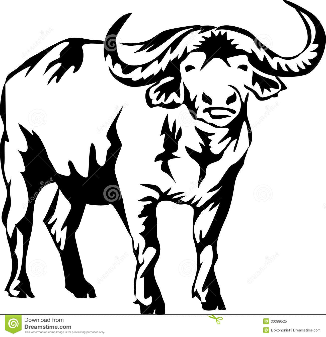 Water Buffalo Clipart.