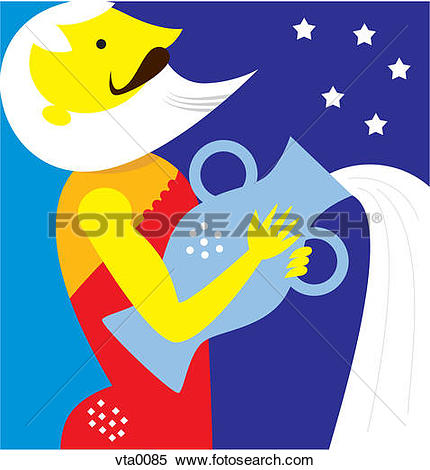 Stock Illustration of Aquarius the water carrier vta0085.