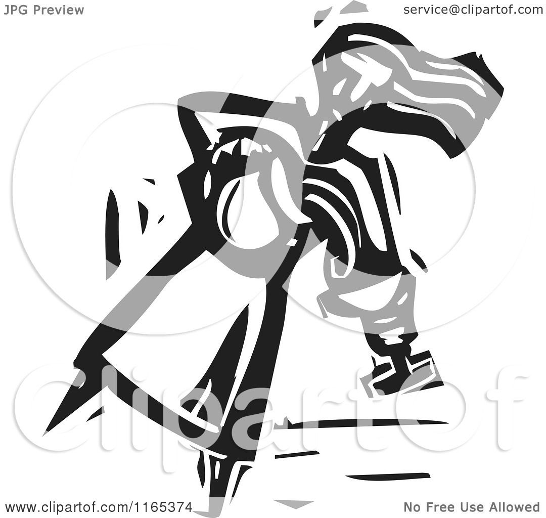 Clipart of a Water Carrier Pouring into a Chalice Black and White.