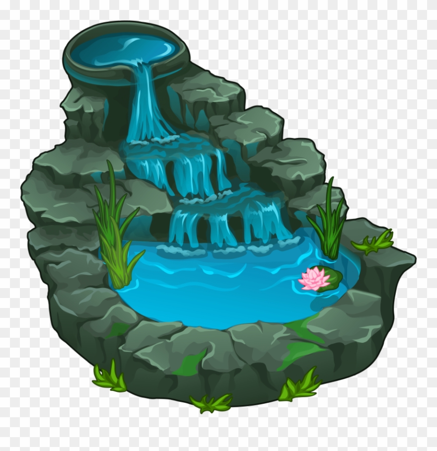 Water falls clip art Transparent pictures on F.