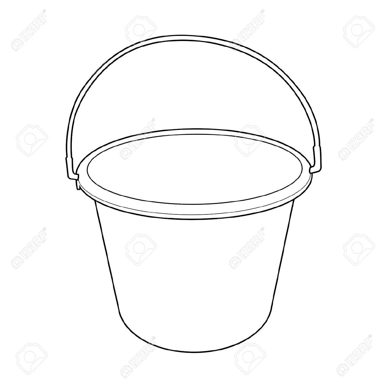 Water Bucket Outline Royalty Free Cliparts, Vectors, And Stock.