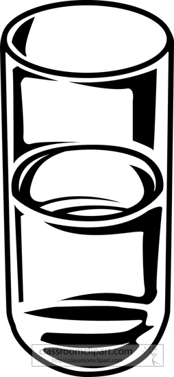 Drink and Beverage Clipart : glass.