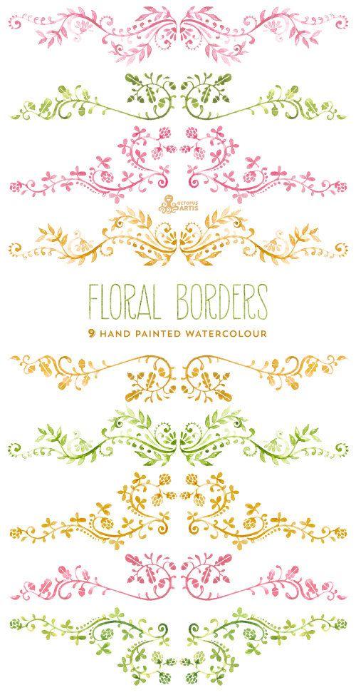 25+ best ideas about Floral Border on Pinterest.