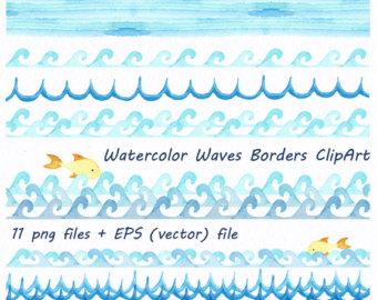 Watercolor border.