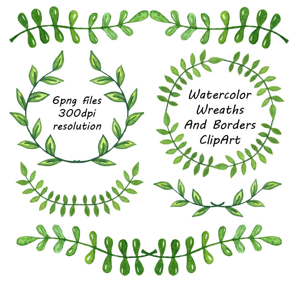 Watercolor Wreaths And Borders clipart Laurel Wreath laurel.