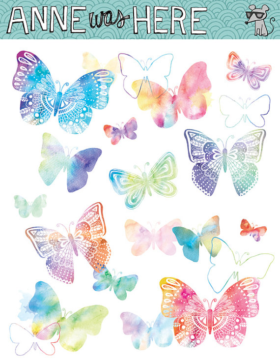 Watercolor Clipart.