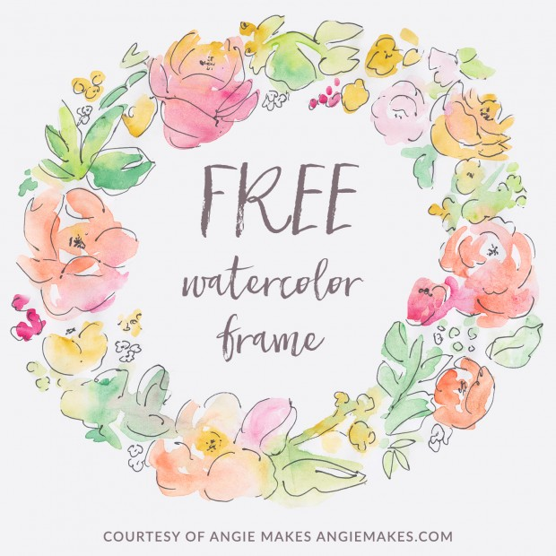 Free watercolor wreath clipart.