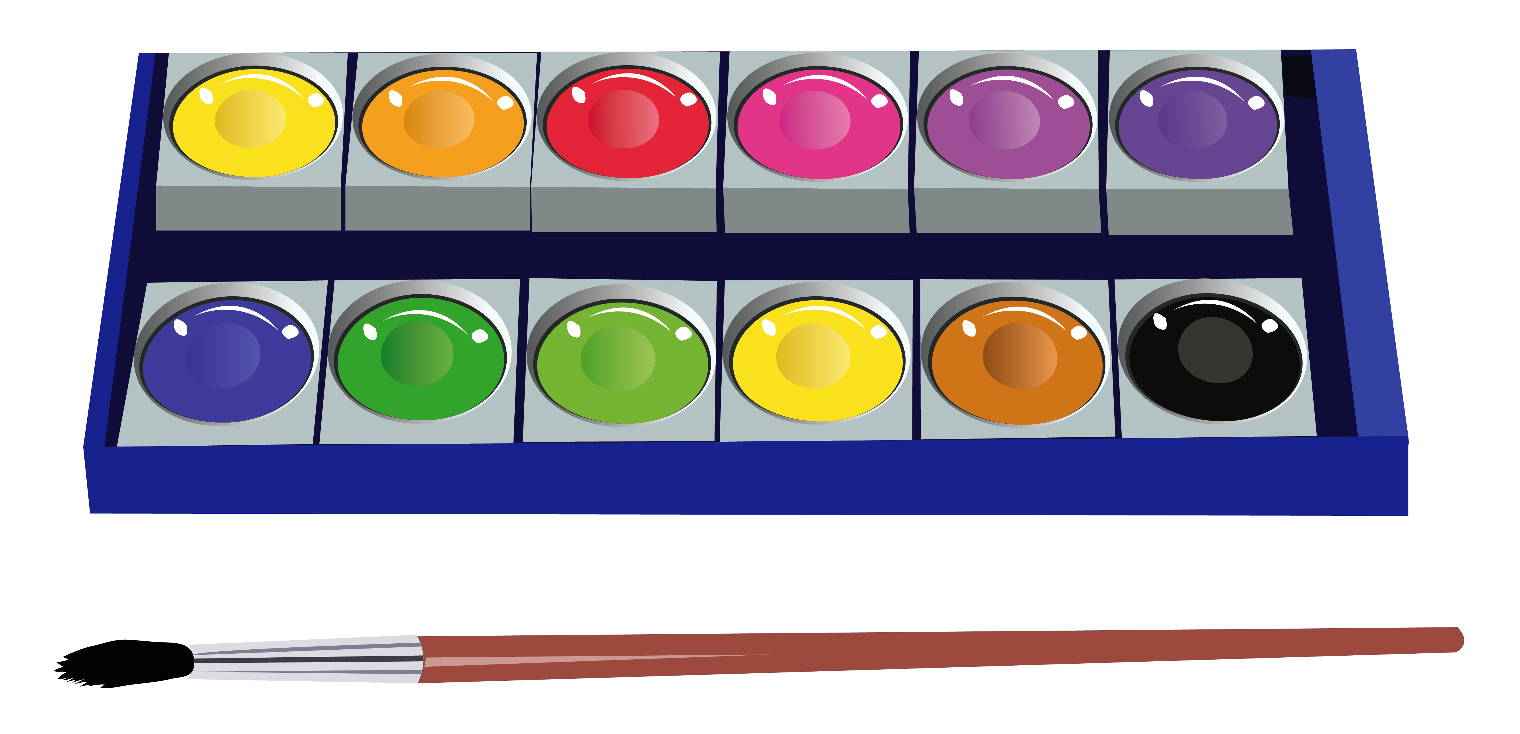 Water colors clipart.