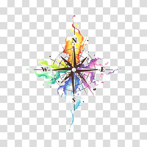 Cartoon Compass transparent background PNG cliparts free.
