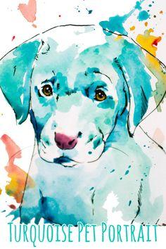 Custom 5x7 Mini Painted Pet Portrait.