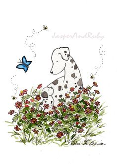 Dalmatian Puppy Painting.