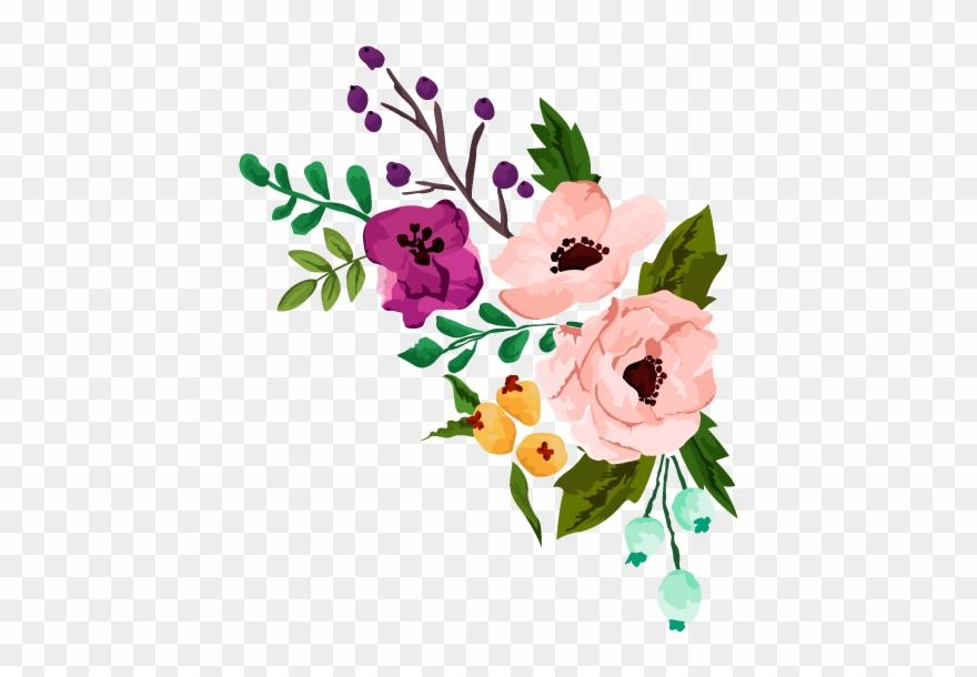 Floral Clipart Rustic Flower.