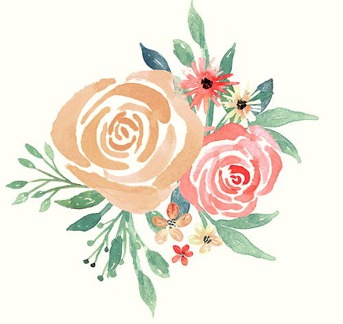 Watercolor Florals for Graphic Design.