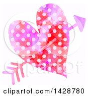 Clipart of a Black and White Woodcut Styled Heart.