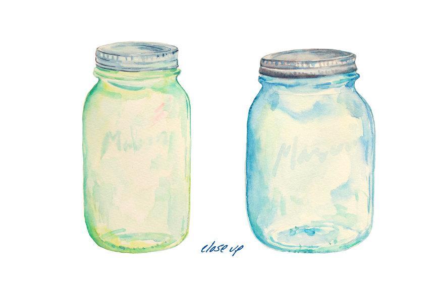 Watercolor Mason Jar at GetDrawings.com.