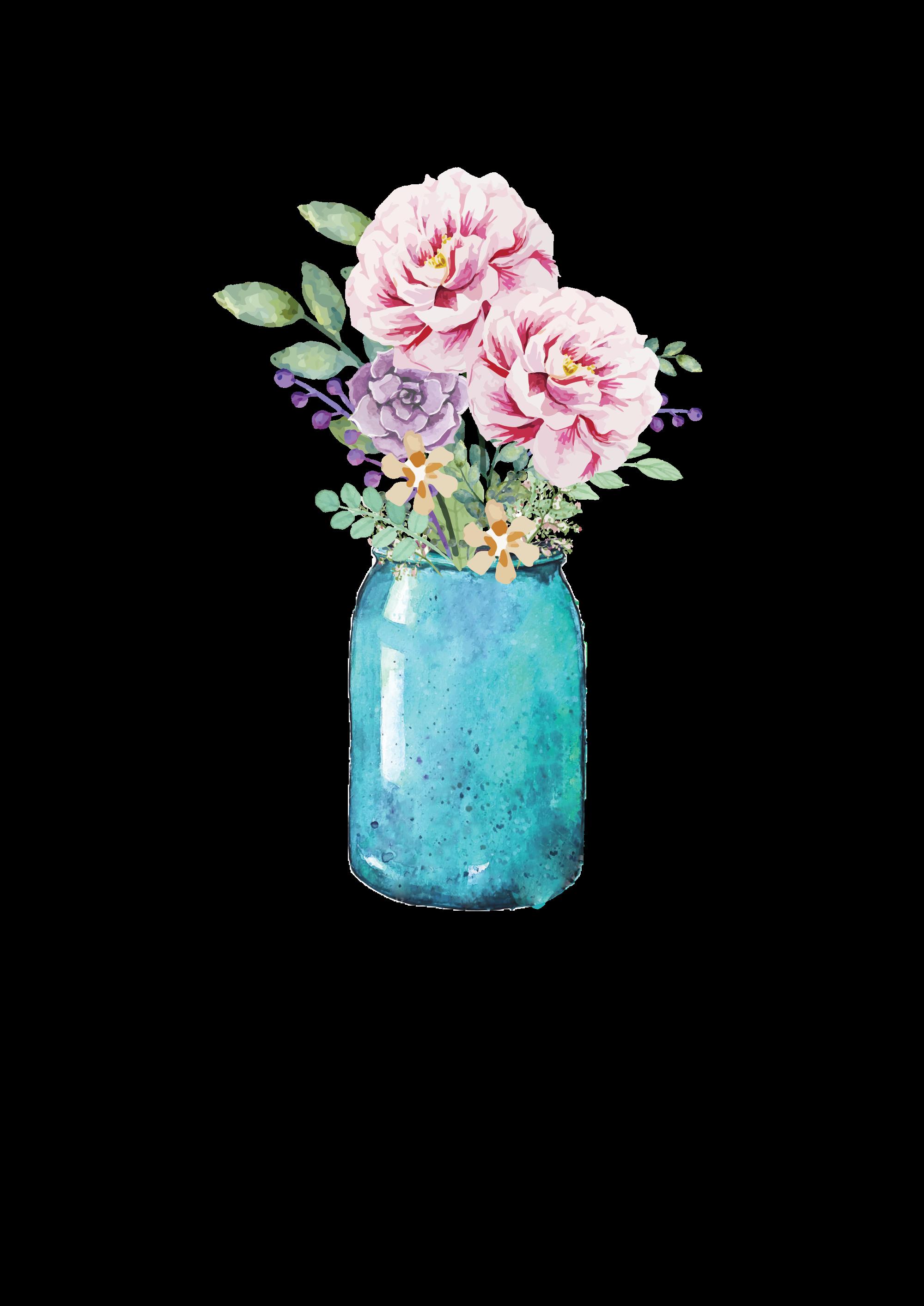 Lauren Baxter : Flowers in a Mason Jar in 2019.