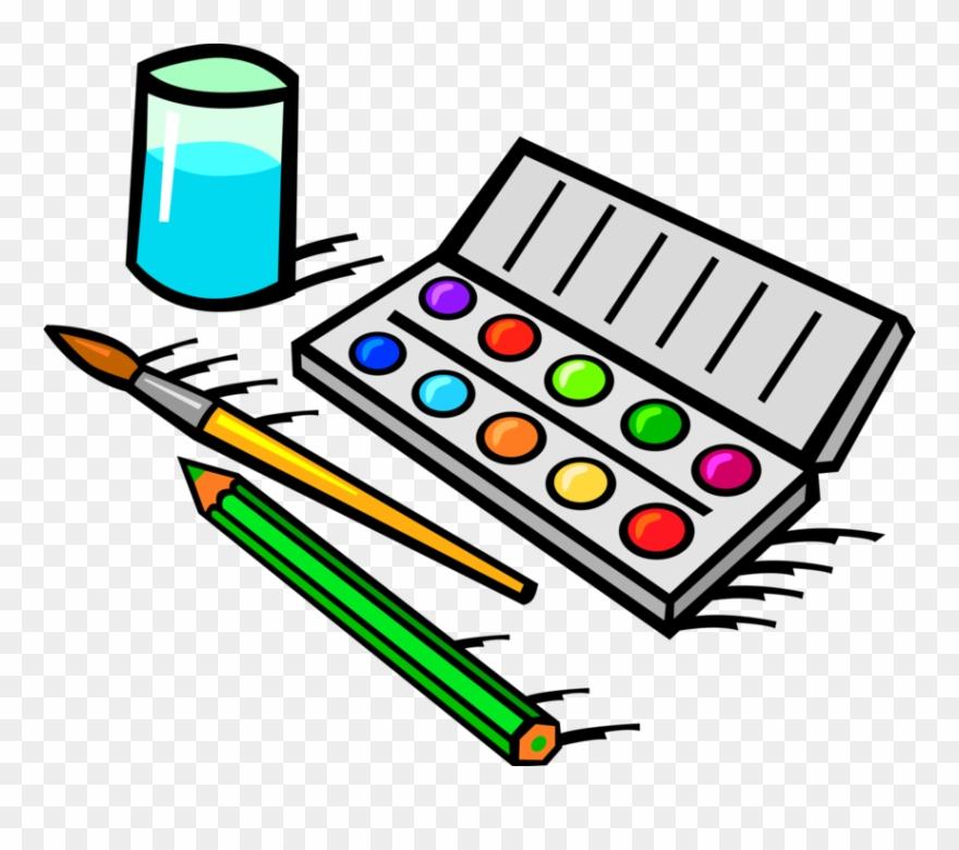 Vector Illustration Of Visual Arts Watercolor Paint.