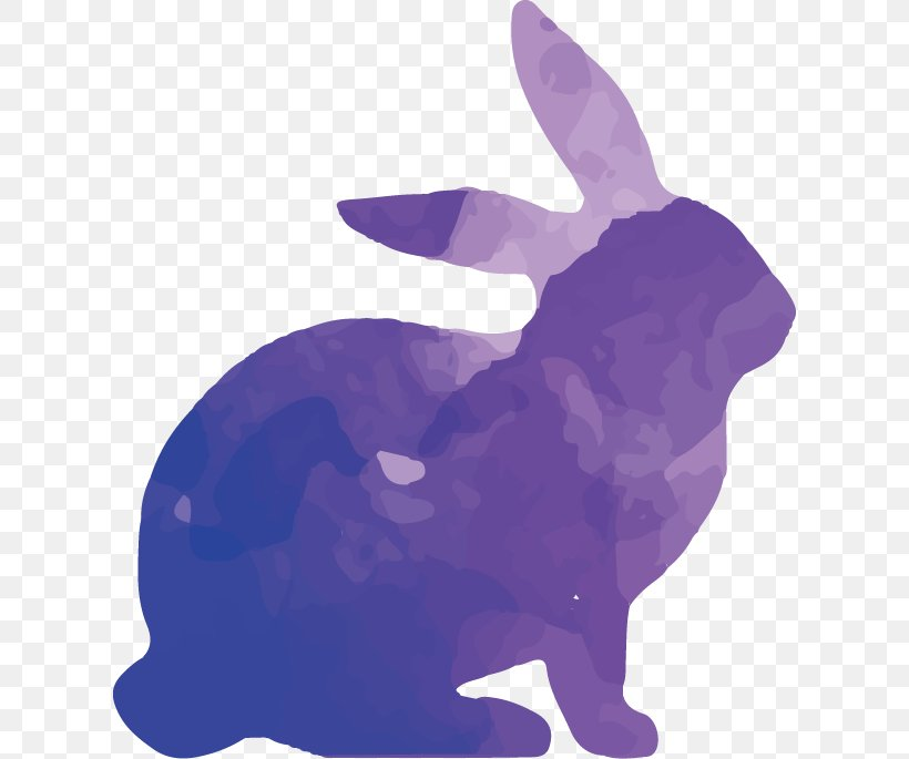 Rabbit Silhouette Watercolor Painting, PNG, 616x685px.