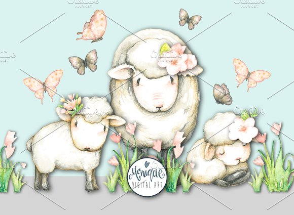 Sheep And Lamb Clipart.