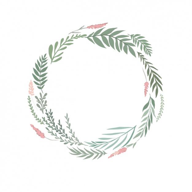 Watercolor floral wreath Vector.