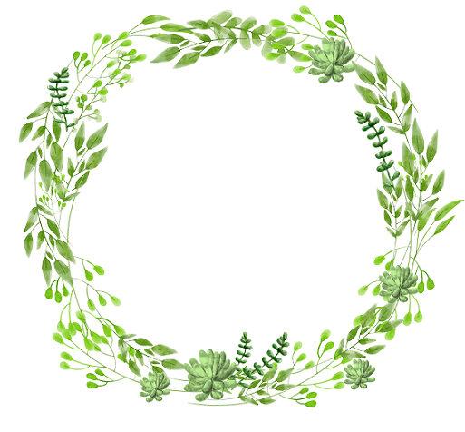 Watercolor Wreath Clipart.