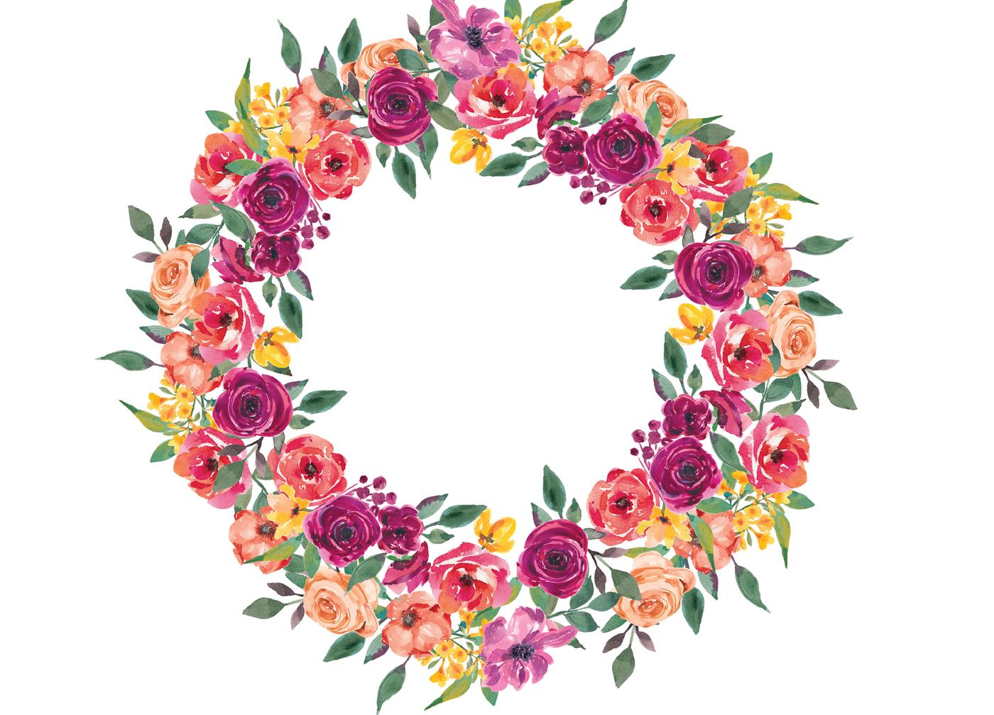 Watercolor Wreath Clipart at GetDrawings.com.